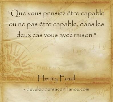 Pensée d'Henry Ford sur la capacité de l'homme