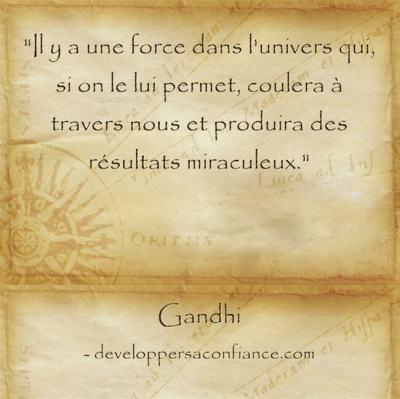 Pensée de Gandhi sur la loi de l'attraction