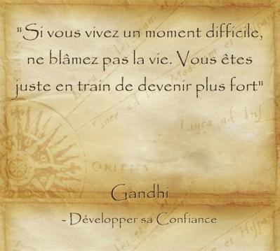 Réflexion de Gandhi sur l'expérience de la vie