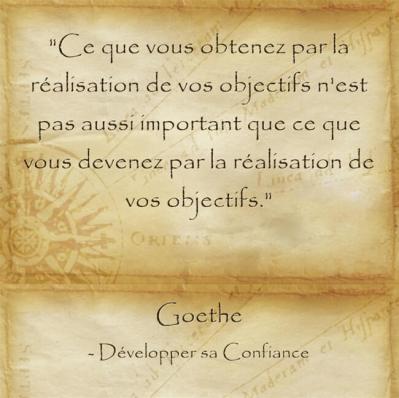 Réflexion philosophique de Goethe sur l'importance de réaliser ses rêves