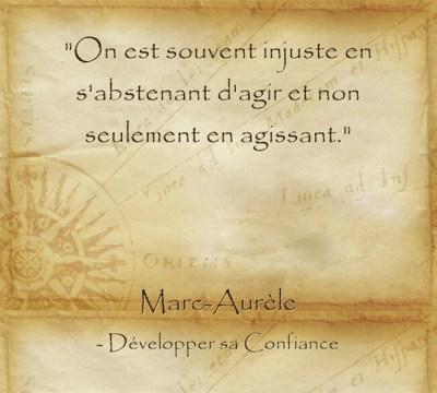 citation de Marc Aurèle sur l'importance de l'action pour être heureux