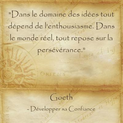 itation de Goethe pour persévérer et réaliser ses rêves