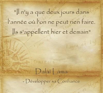 Citation pleine de sagesse du Dalaï Lama sur la capacité que nous avons à changer nos vies