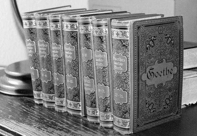 image de livres du romancier allemand Goethe