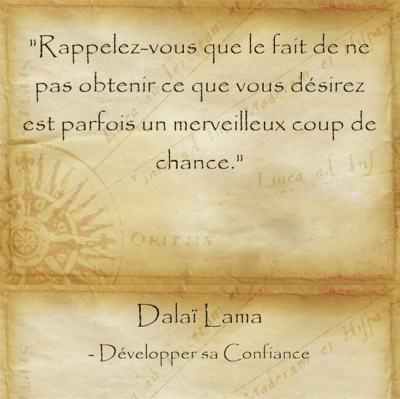 Citation zen et sereine du Dalaï Lama pour relativiser son malheur