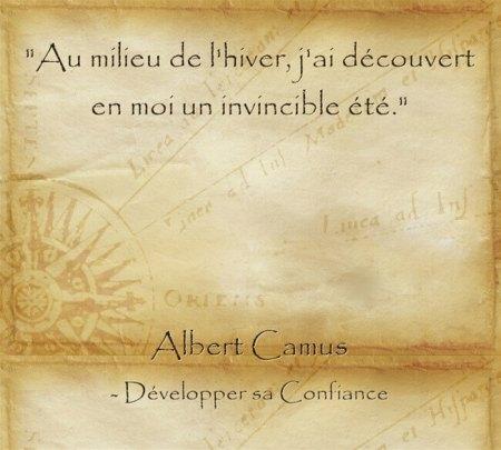 Citation d'Albert Camus sur l'importance de toujours garder espoir