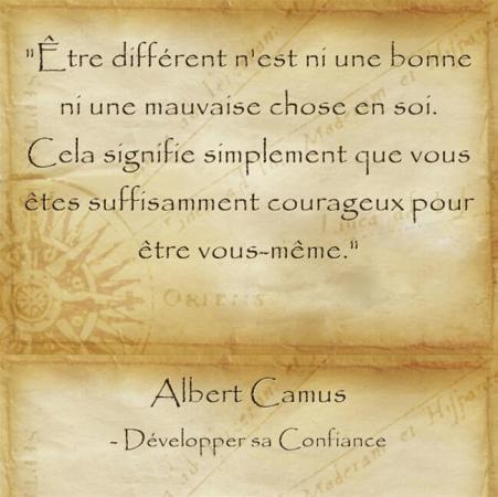 Citation d'Albert Camus pour assumer qui l'on est vraiment et garder espoir
