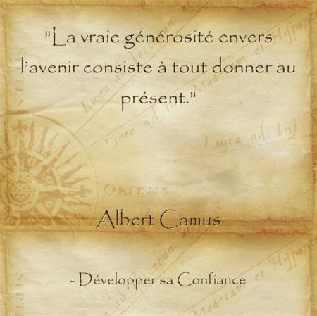 Citation d'Albert Camus pour nous inviter à garder espoir
