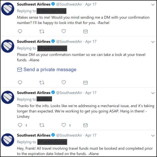 Southwest's continued customer service in the face of a very serious crisis