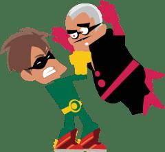 Le super héros super-méchant