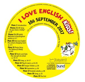 Le CD livré avec le magazine I Love English Kids