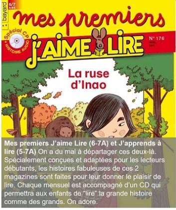 Mes premiers J'aime Lire, un magazine pour les 5-7 ans