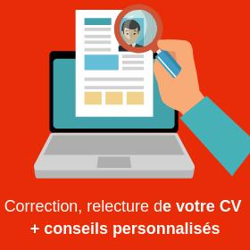 Re-lecture et correction de votre CV