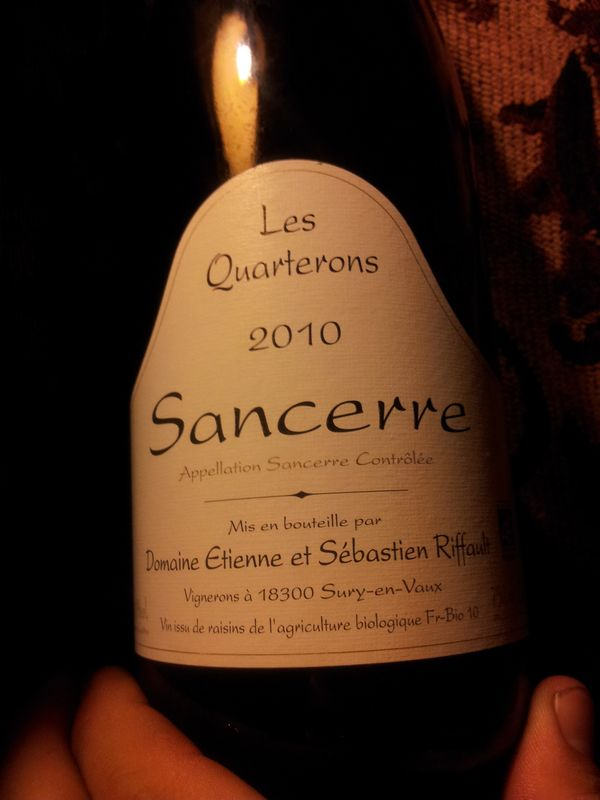Sebastien Riffault Sancerre les Quarterons  Wines Tasted