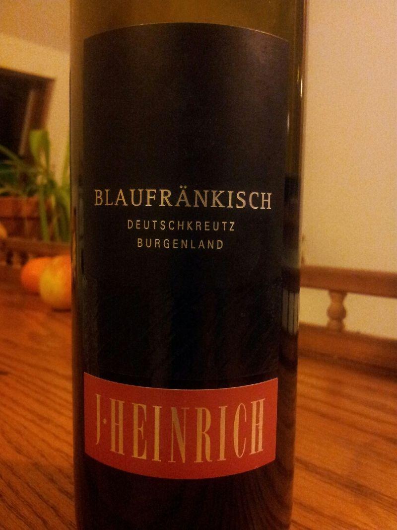 J Heinrich Blaufrankisch  Wines Tasted