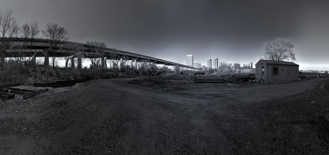 richmond skyline river floodwall walk HDR panorama