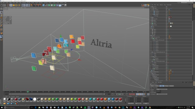 altria logo 3d animation