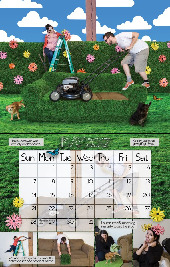 couch couple calendar may layout