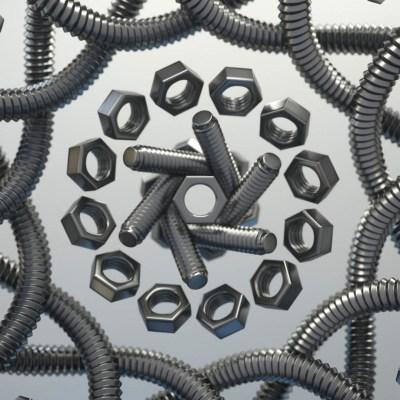 screws 3d art