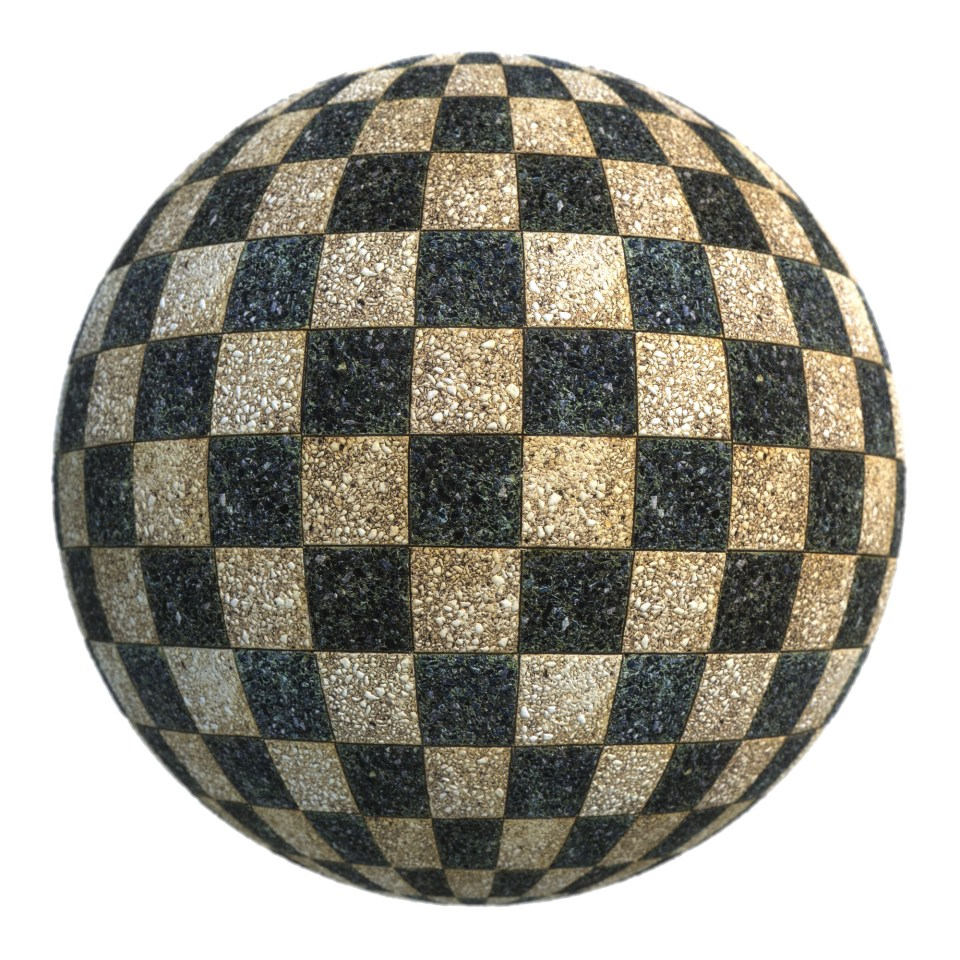 checkerboard surface texture preview
