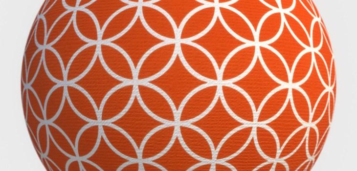 paper circle orange texture preview