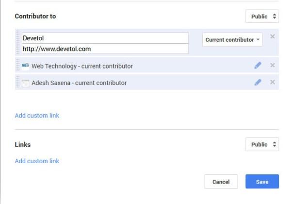 Google Plus Authorship Links