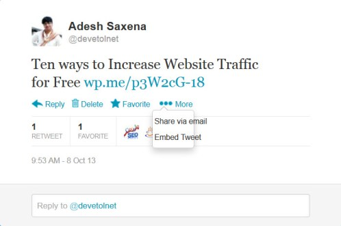 Twitter embed post