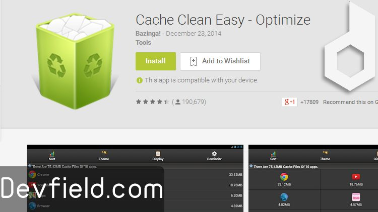 Cache Clean Easy