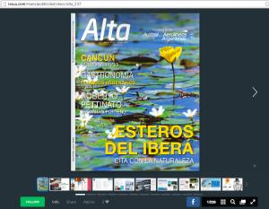 Revista Alta, de Aerolíneas Argentinas