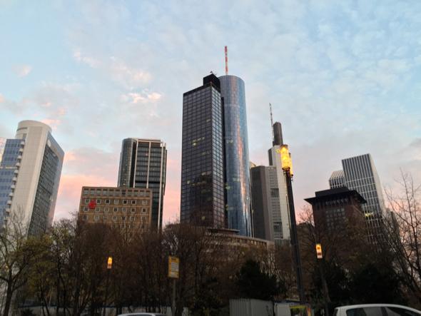 Área de negocios de Frankfurt.