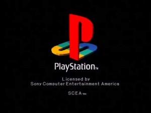 Na imagem o logotipo da SCEA, usado no primeiro PlayStation