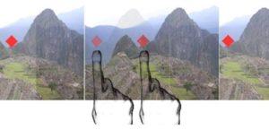 Com a estereoscopia, duas imagens levemente diferentes dão a noção de profundidade