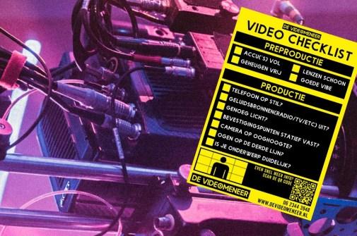 video checklist