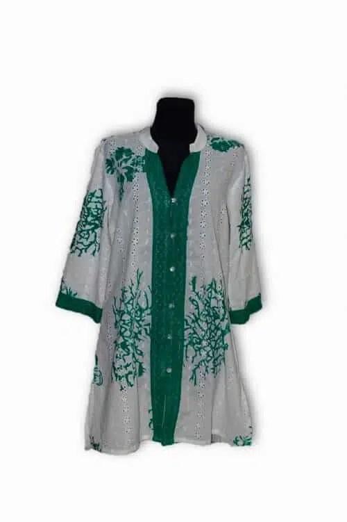 Egyedi pamut gombos ing Indiából zőld