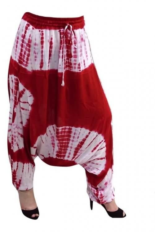 Női nadrág Indiából piros