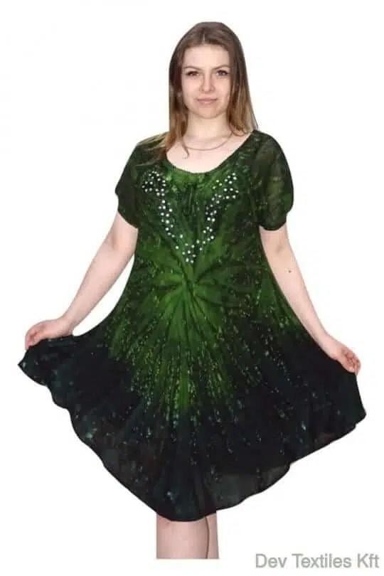Rövid ruha-Elegáns flitteres ruha zöld