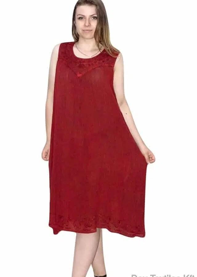 Rövid nyári ruha Indiából egyenes szabású