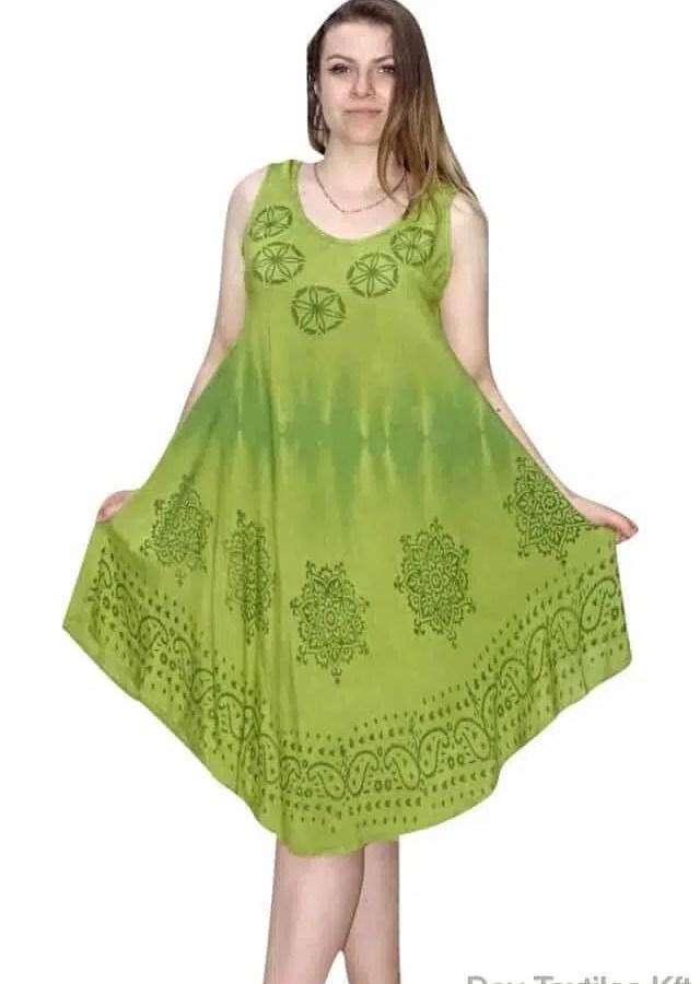 Rövid nyári ruha Indiából kör mintával