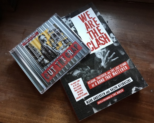"The book ""We Are The Clash"" with The Clash's ""Cut the Crap"" album on CD"