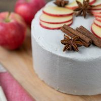 Spiced Apple Cake with Maple Frosting