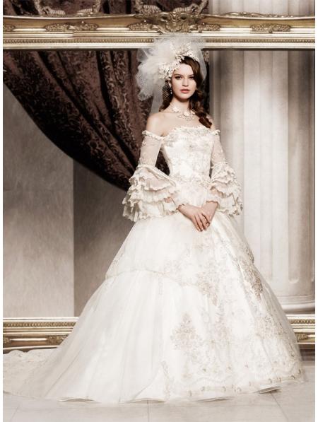 Offtheshoulder Princess Vintage Victorian Wedding Dress