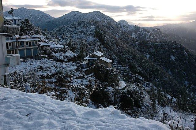 Khirsu in Snow