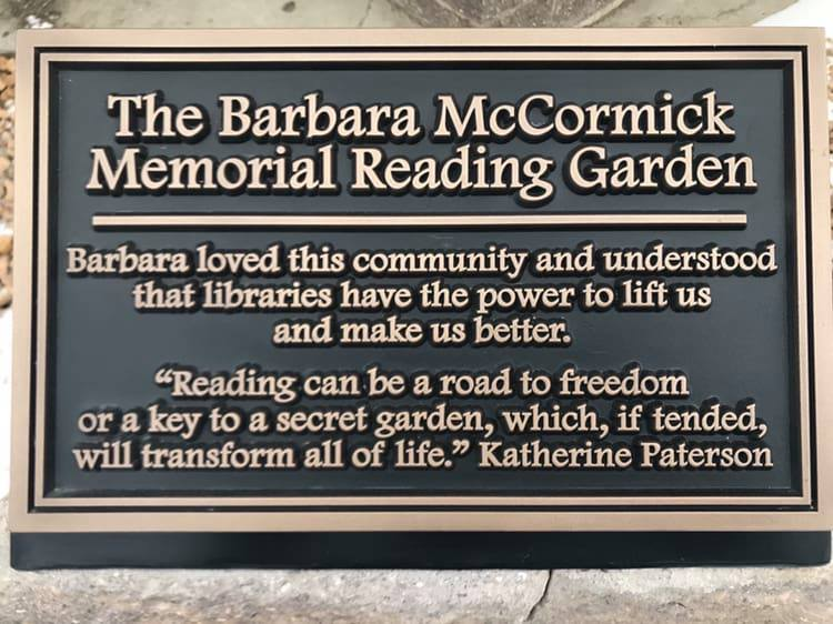 Donate to the Barbara McCormick Reading Garden