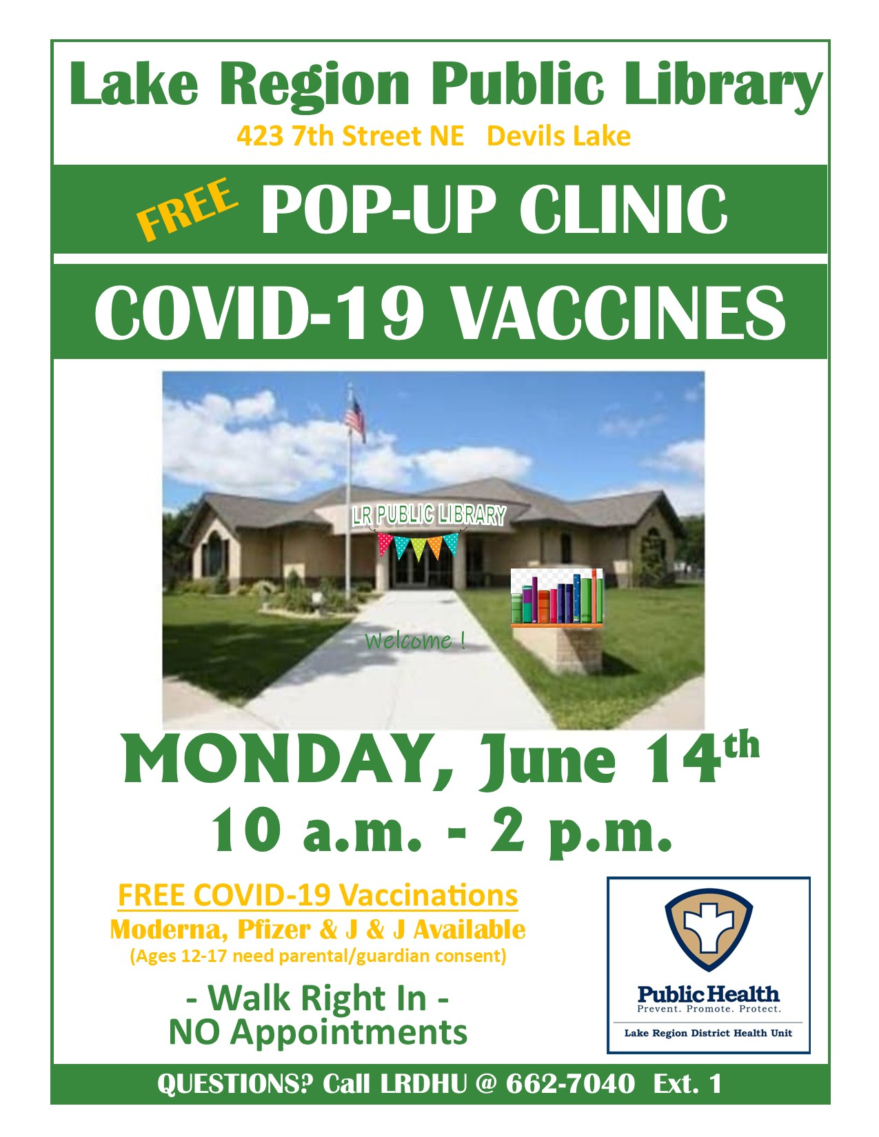 COVID Vaccines Pop Up Clinic at the Library