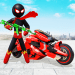 Download Stickman Moto Bike Hero: Crime City Superhero Game v5 APK For Android