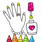 Glitter Nail Drawing Book and Coloring Game v5.0 APK Download For Android