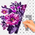 Download Color by Letter – Sewing game  Cross stitch v1.1.4 APK