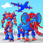 Download Flying Monster Truck Transform Elephant Robot Game v2.0.9 APK For Android