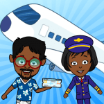 Free Download My Airport Town: Kids City Airplane Games for Free v1.6.1 APK