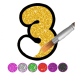 Glitter Number and letters coloring Book for kids v3.8 APK New Version
